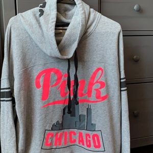 Victoria's Secret pink Chicago sweater